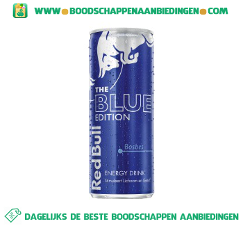 Red Bull Blue edition aanbieding