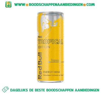 Red Bull The tropical edition aanbieding