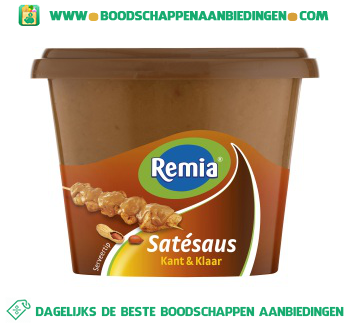 Remia Satesaus kant & klaar aanbieding