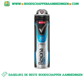 Rexona Deodorant spray men dry cobalt aanbieding