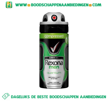 Rexona Deodorant spray men dry quantum aanbieding