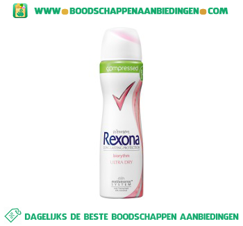 Rexona Deodorant spray women ultra dry biorythm aanbieding