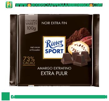 Ritter Sport Chocoladereep fine extra dark aanbieding