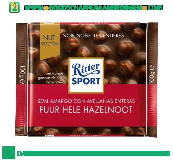 Ritter Sport Chocoladereep hazelnoot aanbieding