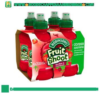 Robinsons Fruitshoot aardbei & framboos 4-pak aanbieding