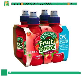 Robinsons Fruitshoot rood fruit geen suiker toegevoegd 4-pak aanbieding