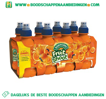 Robinsons Fruitshoot sinaasappel pak 8 flesjes aanbieding