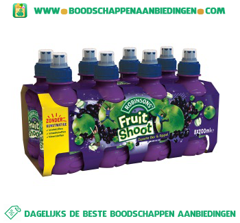 Robinsons Fruitshoot zwarte bes appel pak 8 flesjes aanbieding