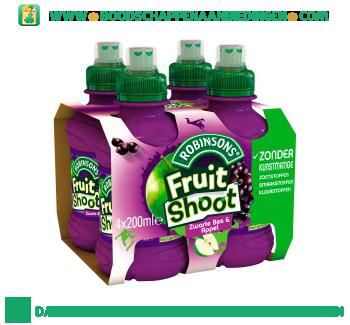Robinsons Fruitshoot zwarte bes & appel 4-pak aanbieding