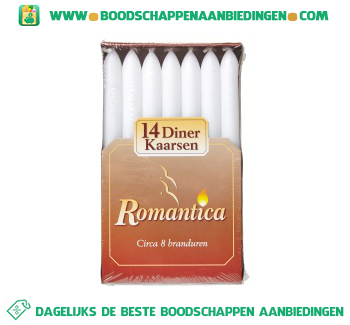 Romanti Dinerkaarsen wit aanbieding