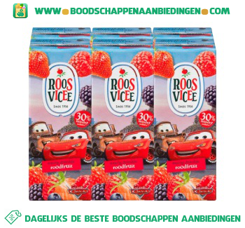 Roosvicee Fruitig drankje roodfruit mini 6-pak aanbieding
