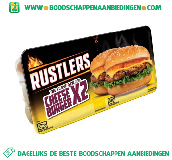 Rustlers Cheeseburger twin pack aanbieding