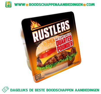 Rustlers Grilled quarter pounder aanbieding