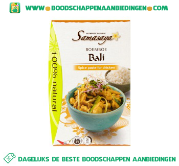 Samasaya Boemboe Bali aanbieding