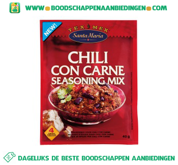 Santa Maria Chili con carne seasoning mix aanbieding