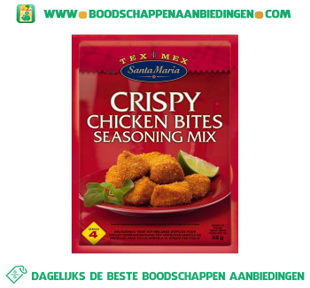 Santa Maria Crispy chicken bites seasoning mix aanbieding