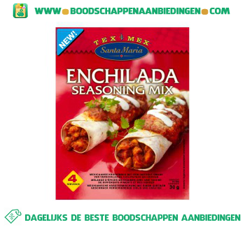 Santa Maria Enchilada seasoning mix aanbieding