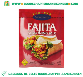 Fajita seasoning mix aanbieding