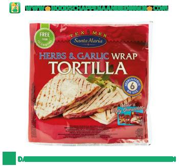 Herbs & garlic wrap tortilla aanbieding
