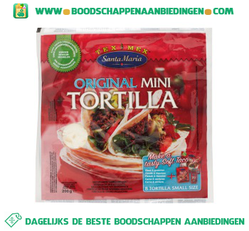 Santa Maria Original mini tortilla aanbieding