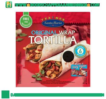 Santa Maria Original wrap tortilla aanbieding