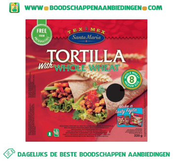 Santa Maria Tortilla whole wheat aanbieding