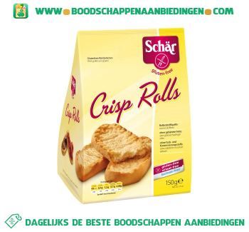 Schär Crisp rolls aanbieding