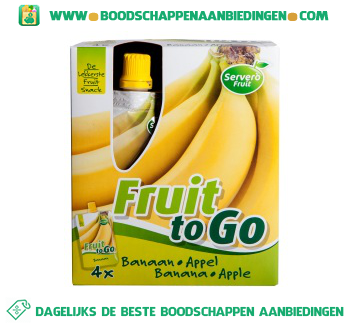Servero Fruit to go appel & banaan aanbieding