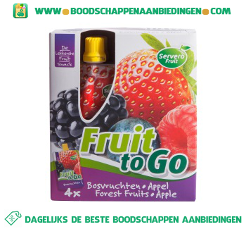 Servero Fruit to go bosvruchten appel aanbieding