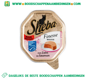 Sheba Finesse zalm aanbieding