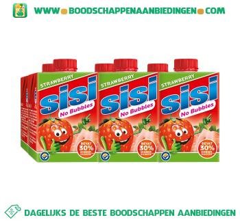 Sisi No bubbles strawberry 6-pak aanbieding