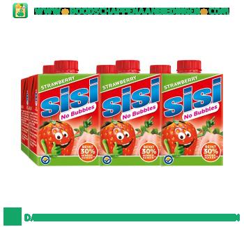 Sisi No bubbles strawberry 6-pak aanbieding