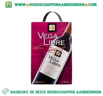 Spanje Vega Libre tinto bag-in-box aanbieding