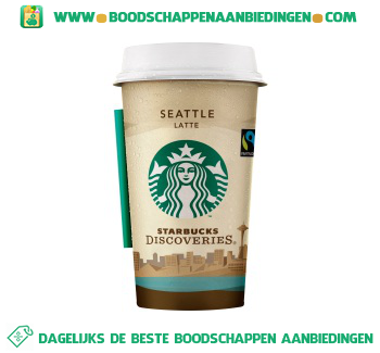 Starbucks Discoveries Seattle latte aanbieding