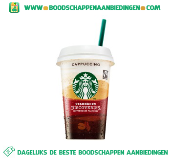 Starbucks Discoveries cappuccino aanbieding