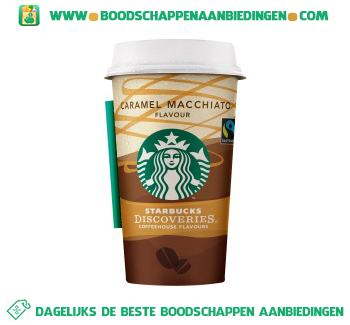 Starbucks Discoveries caramel macchiato aanbieding
