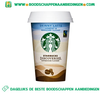 Starbucks Discoveries skinny latte aanbieding