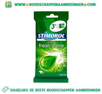 Stimorol Freshzone spearmint aanbieding