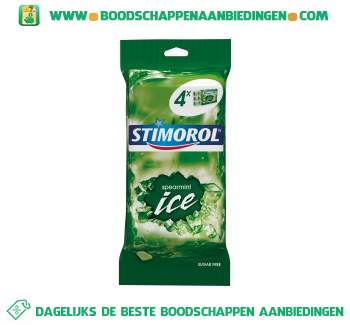 Stimorol Ice spearmint aanbieding