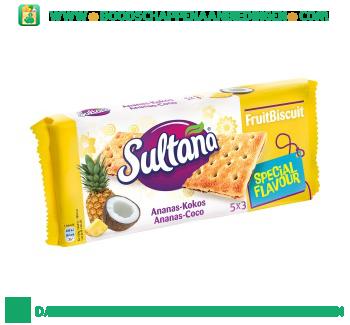 Sultana Fruitbiscuit ananas-kokos aanbieding
