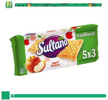 Sultana Fruitbiscuit appel aanbieding