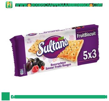 Sultana Fruitbiscuit bosvruchten aanbieding