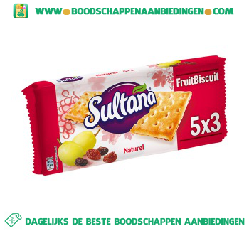 Sultana Fruitbiscuit naturel aanbieding