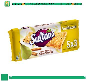 Sultana Fruitbiscuit peer kaneel aanbieding