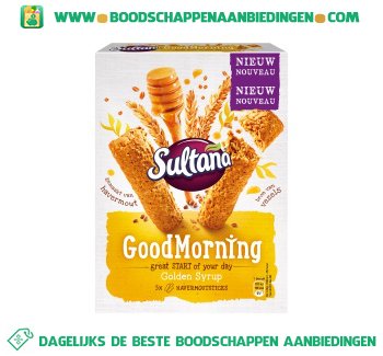Sultana Goodmorning golden syrup aanbieding