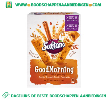 Sultana Goodmorning rozijn kaneel aanbieding