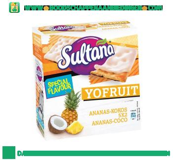 Sultana Yofruit ananas-kokos aanbieding