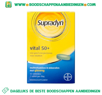 Supradyn Vital 50+ multivitamine tabletten aanbieding