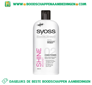 Syoss Conditioner shine boost aanbieding