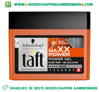 Taft Maxx power gel aanbieding